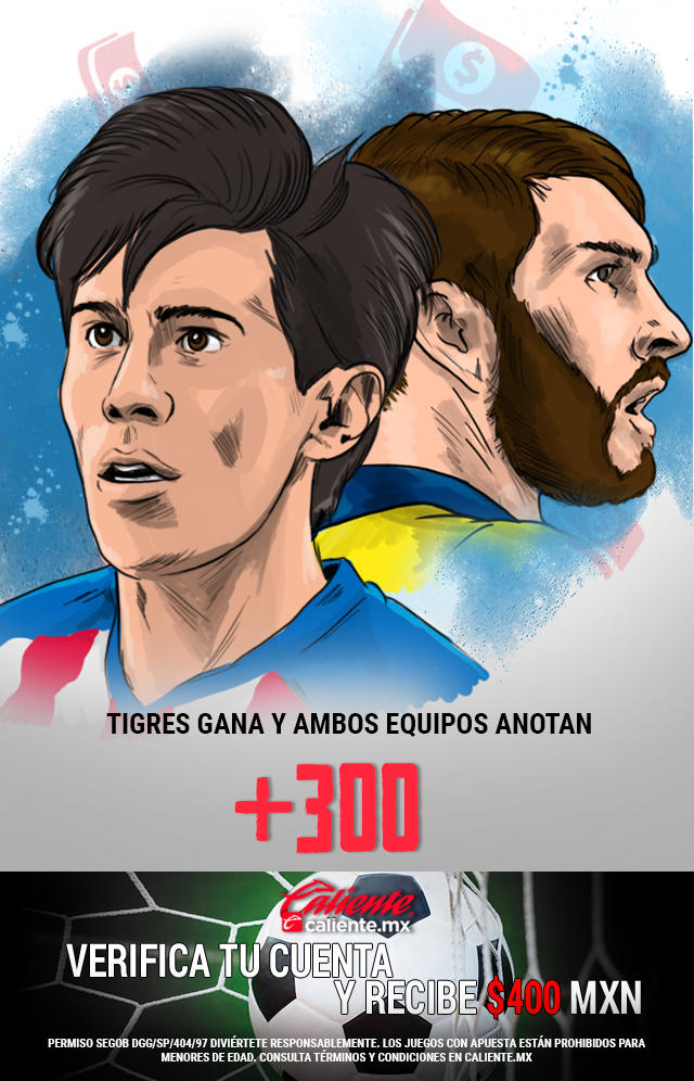 Si crees que Tigres gana vs Chivas y ambos equipos anotan gol, apuesta en Caliente y llévate mucho dinero.