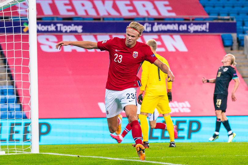 Haaland con Noruega