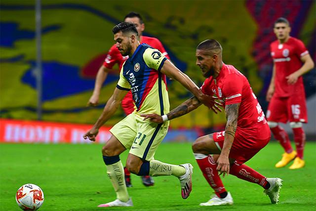 América y Toluca empataron a un gol en la Jornada 10