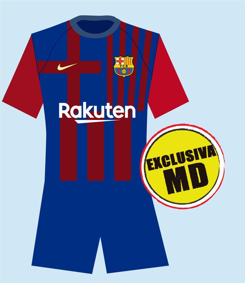 Diseño del que sería el jersey del Barcelona para la temporada 2021-22