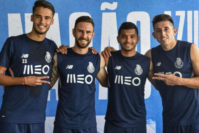 Reyes, Layún, Tecatito y HH juntos en el Porto
