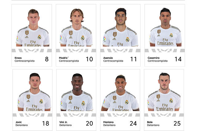 Cambios en los dorsales del Real Madrid