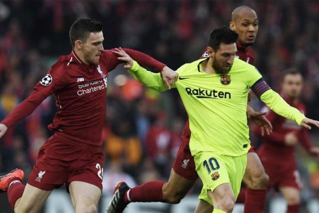 Robertson y Messi