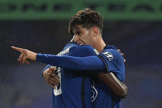 Kai Havertz anota su primer gol con el Chelsea