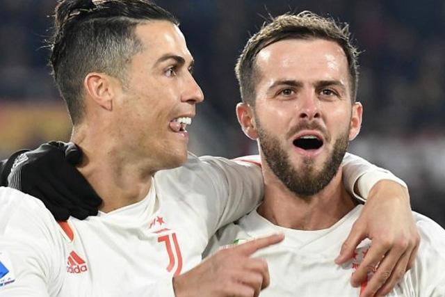 Cristiano Ronaldo y Miralem Pjanic