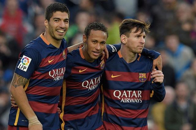 Suárez, Neymar y Messi