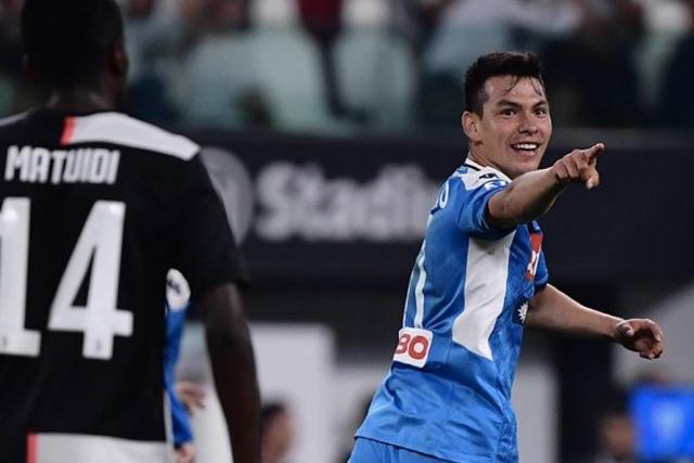Chucky Lozano en su debut con el Napoli ante la Juventus