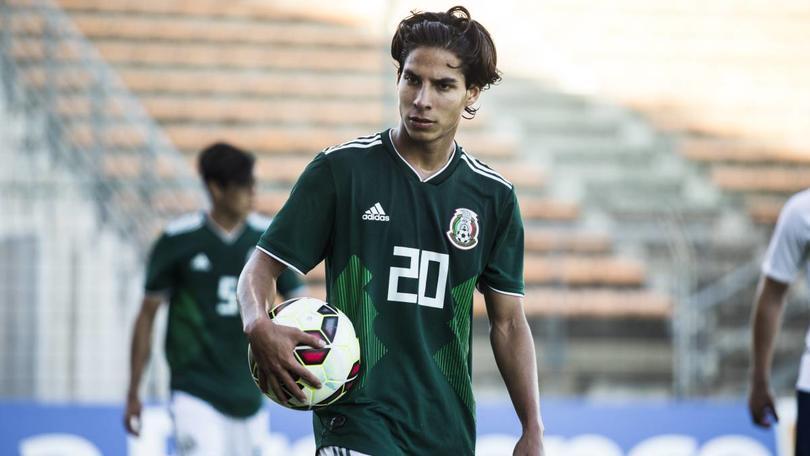Lainez hace el gol del empate ante Argelia.