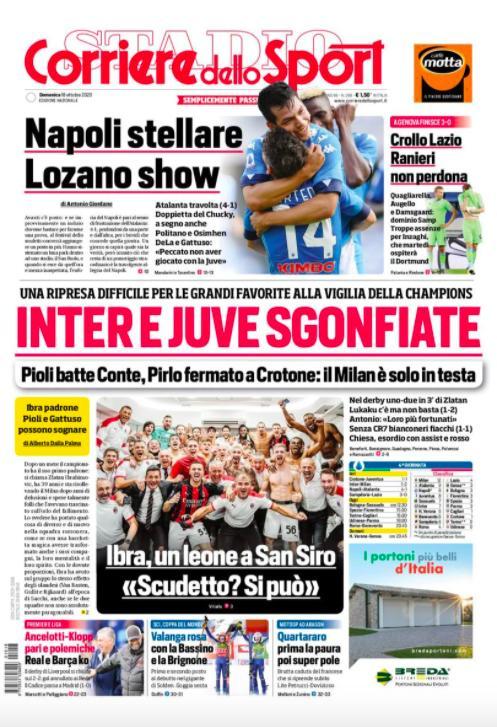 Chucky Lozano se llevó la portada de la prensa italiana