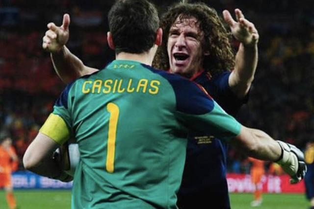Iker Casillas y Carles Puyol