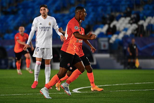 Shakhtar vence 3-0 al Real Madrid al medio tiempo