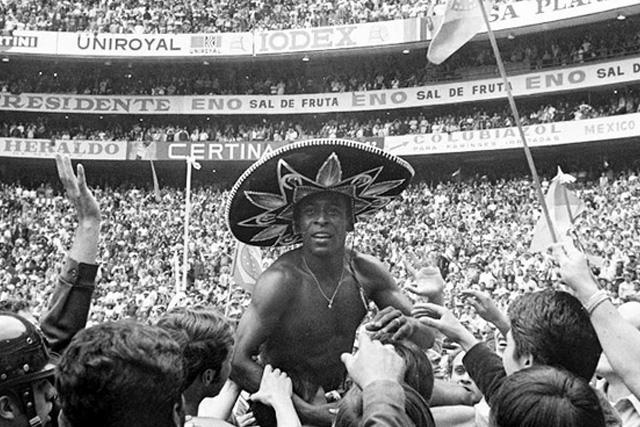 Pelé durante el Mundial 70