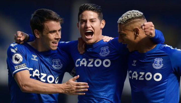 James Rodríguez, gran fichaje del Everton