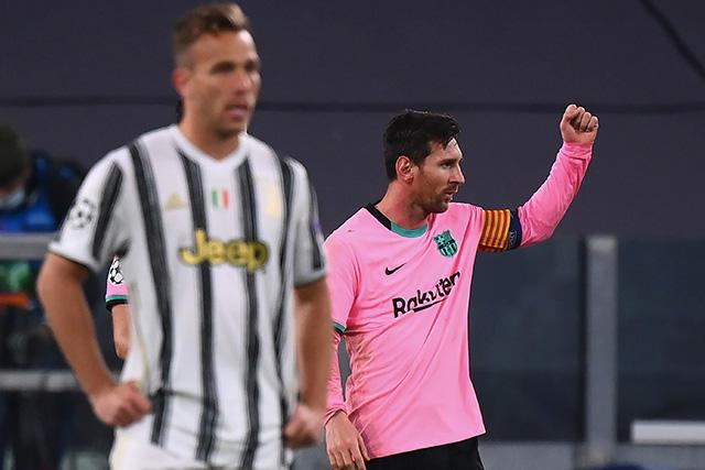 Lionel Messi celebra el 2-0 del Barcelona ante la Juventus