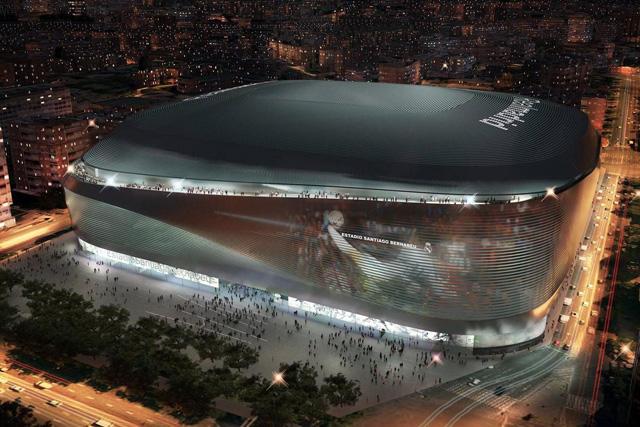 Siguen las obras de la remodelación del Real Madrid