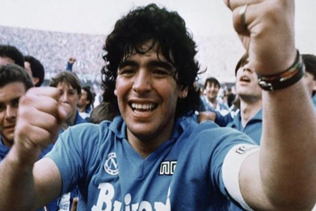 Diego Maradona con el Napoli