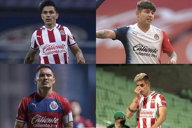 Villalpando, Chofis, Gallito y Peña no volverán a jugar en Chivas