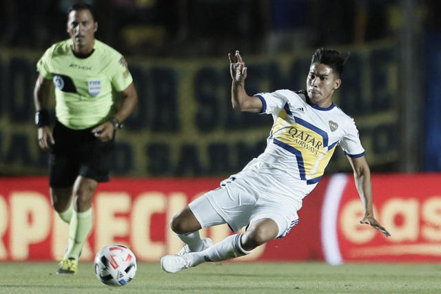 Pol Fernández con Boca Juniors