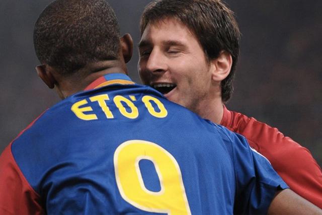 Samuel Eto'o y Lionel Messi