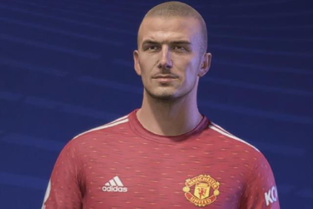 David Bekcham en su versión para el FIFA 21