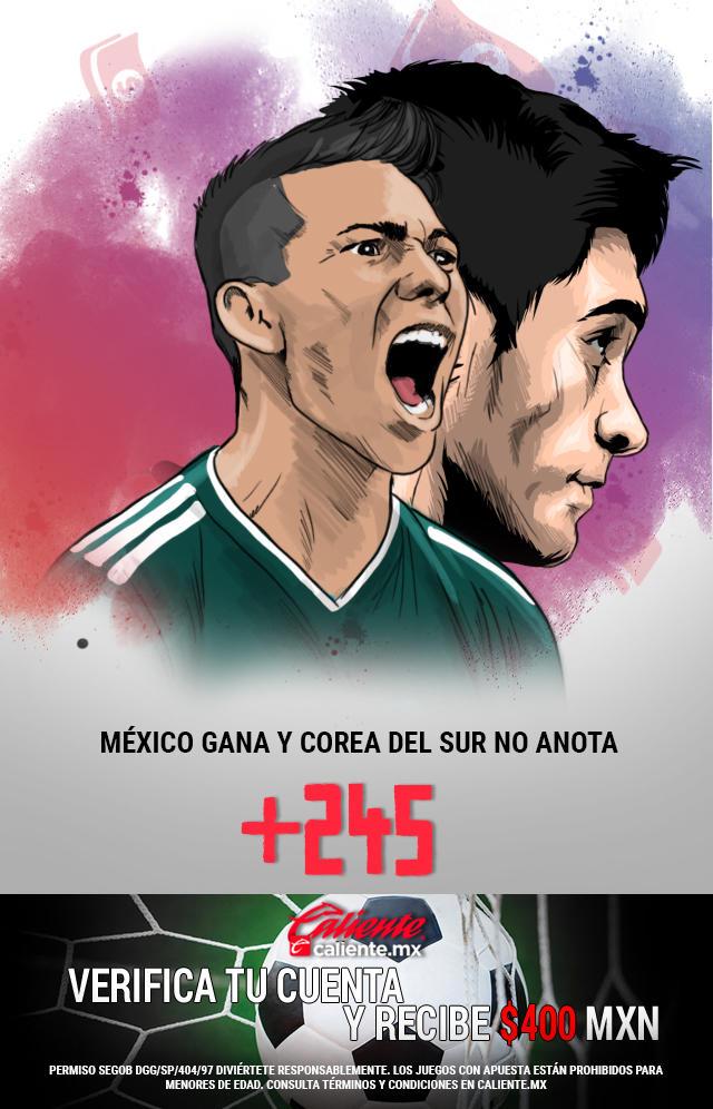 Si crees que México gana y Corea del Sur no anota, apuesta en Caliente y llévate mucho dinero.