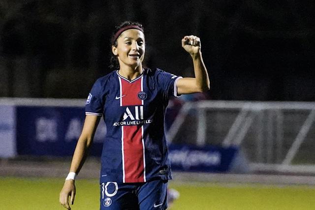 Nadia Nadim fue la protagonista del partido con seis de los 14 goles del PSG
