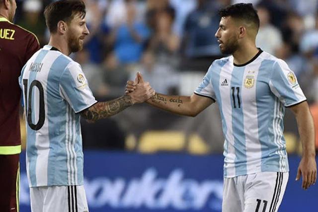Lionel Messi y Sergio Agüero