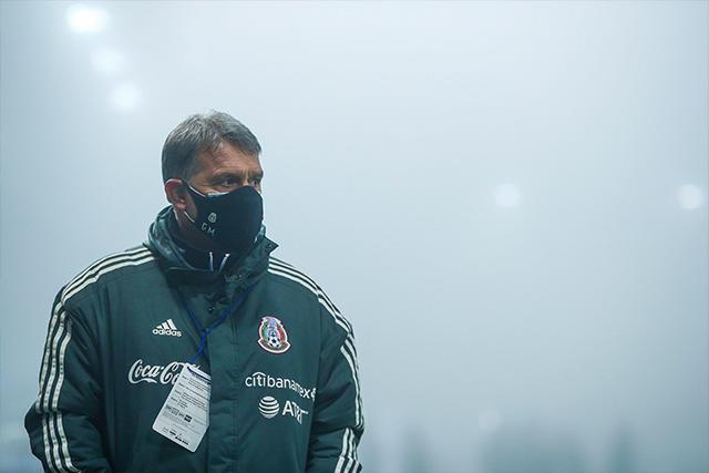 Gerardo Martino en el partido de México ante Japón