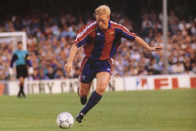 Ronald Koeman como jugador del Barcelona