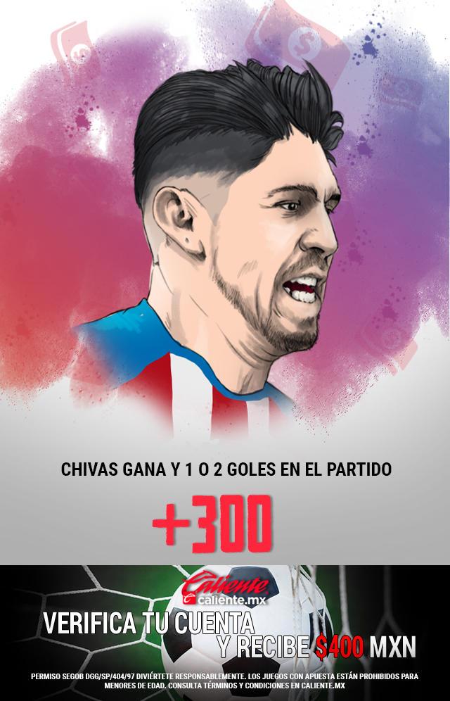 Si crees que Chivas gana y se anotan 1 o 2 goles en el partido, apuesta en Caliente y llévate mucho dinero.