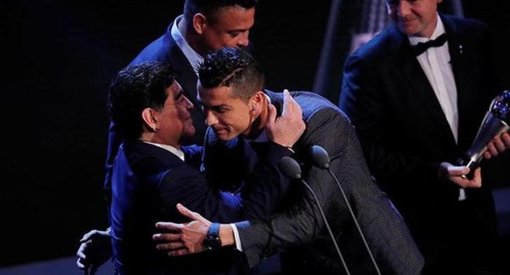 Cristiano Ronaldo y Maradona