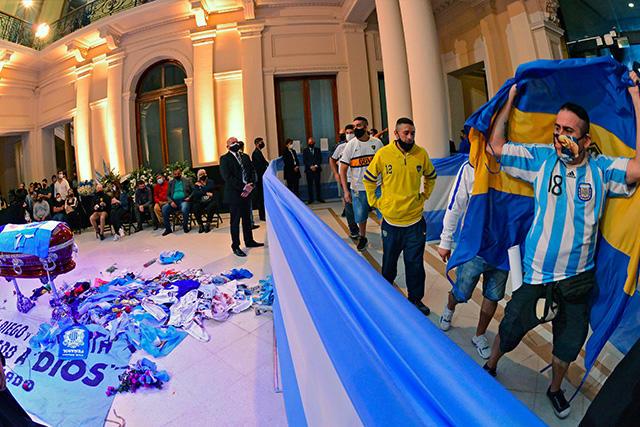 Velatorio de Diego Maradona en la Casa Rosada