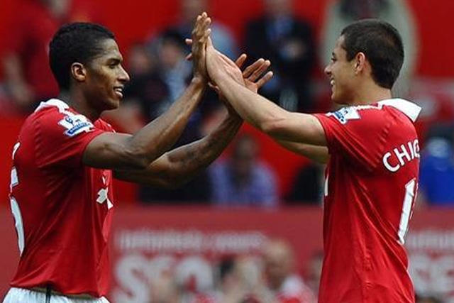 Antonio Valencia y Chicharito
