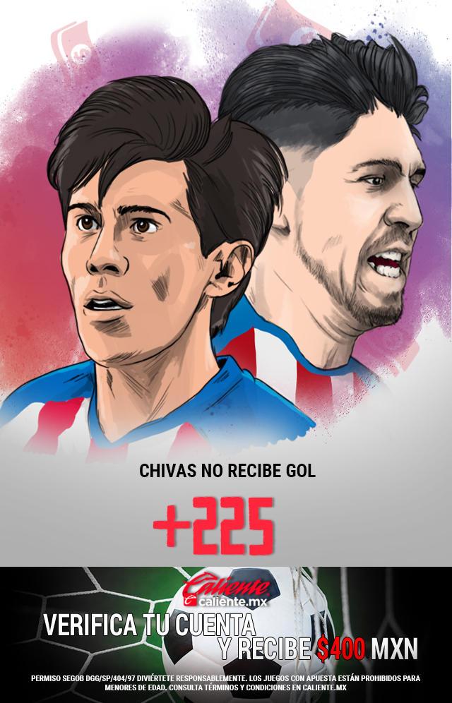 Si crees que Chivas no recibe gol en el partido va León, apuesta en Caliente y llévate mucho dinero.