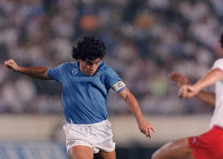 Diego Armando Maradona capitán del Napoli