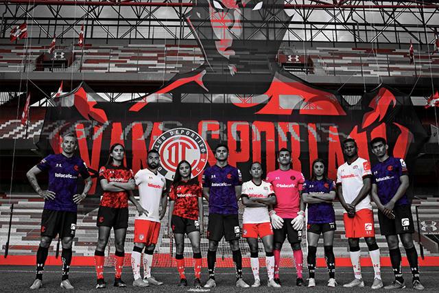 Toluca presenta nuevo uniforme y a Caliente.mx como su patrocinador