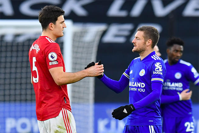 Manchester United y Leicester empatan a dos en el Boxing Day