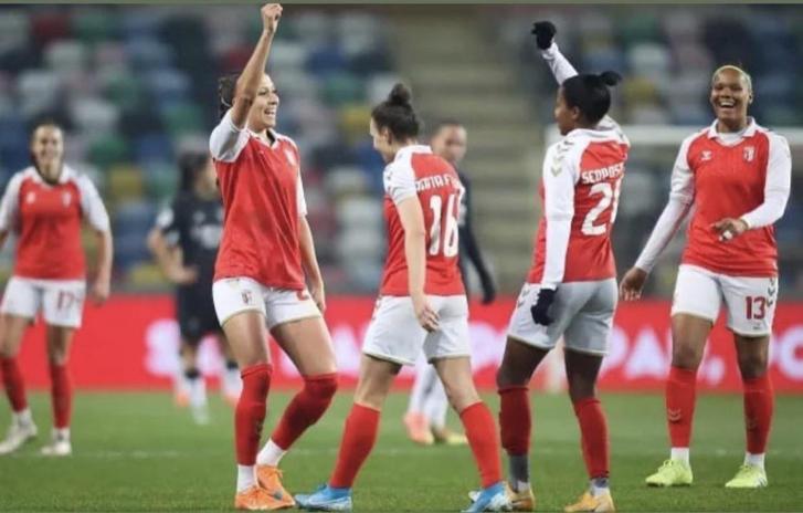 SC Braga celebra triunfo en copa
