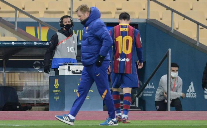 Messi expulsado de la Supercopa Española