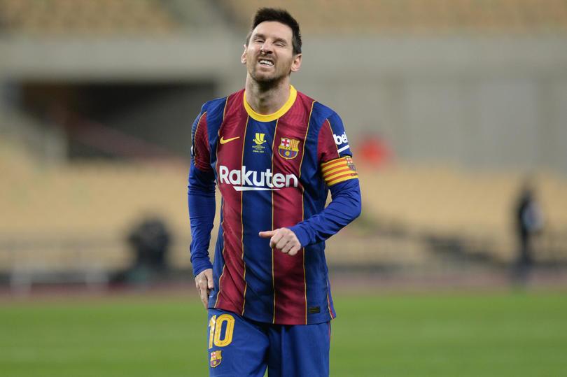 Messi durante la Supercopa de España