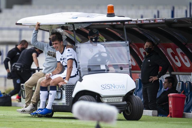 Juan Ignacio Dinenno sale lesionado