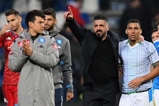El puesto de Gattuso en el Napoli se tambalea tras las últimas dos derrotas