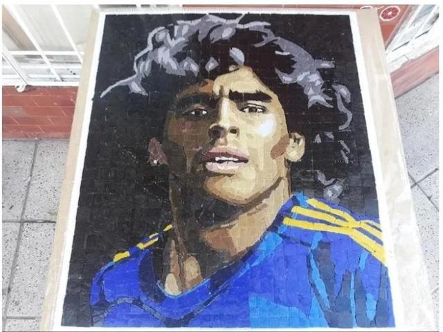 Mural que rinde homenaje a Maradona