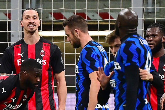La discusión entre Zlatan y Lukaku