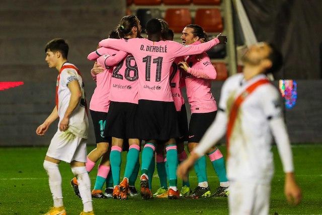 Barcelona supera 2-1 al Rayo Vallecano en la Copa del Rey