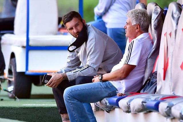 Gignac y Ferretti, previo a un partido de la Liga MX