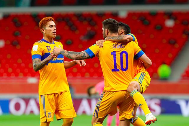 Gignac celebra su gol ante Ulsan Hyundai en el Mundial de Clubes