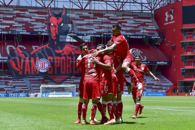 Toluca va ganando al medio tiempo 0-3
