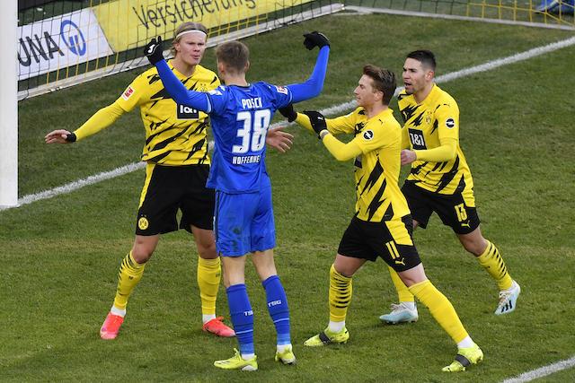 Haaland y compañia no pudieron ante el Hoffenheim