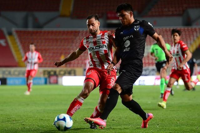 Monterrey y Necaxa dividen puntos